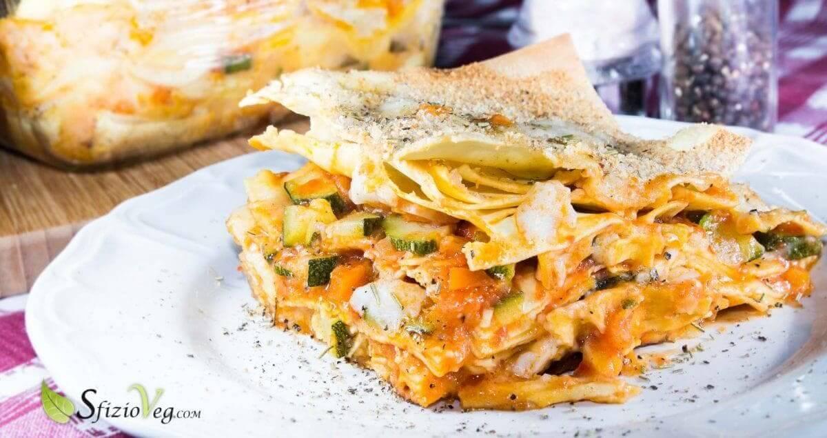 Lasagne alle verdure con mozzarella di riso