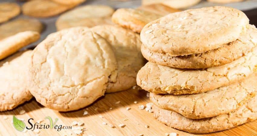 Biscotti vegan con fiocchi d'avena