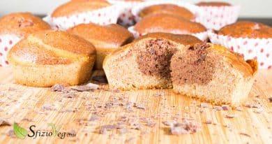 Banana muffin variegati al cacao