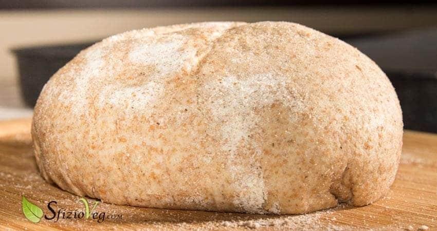 Pizza integrale con farina di riso