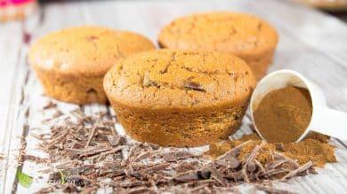 Muffin vegani alla liquirizia e cioccolato
