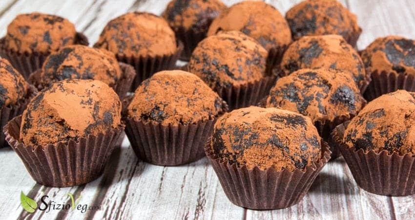 tartufini al cioccolato vegan
