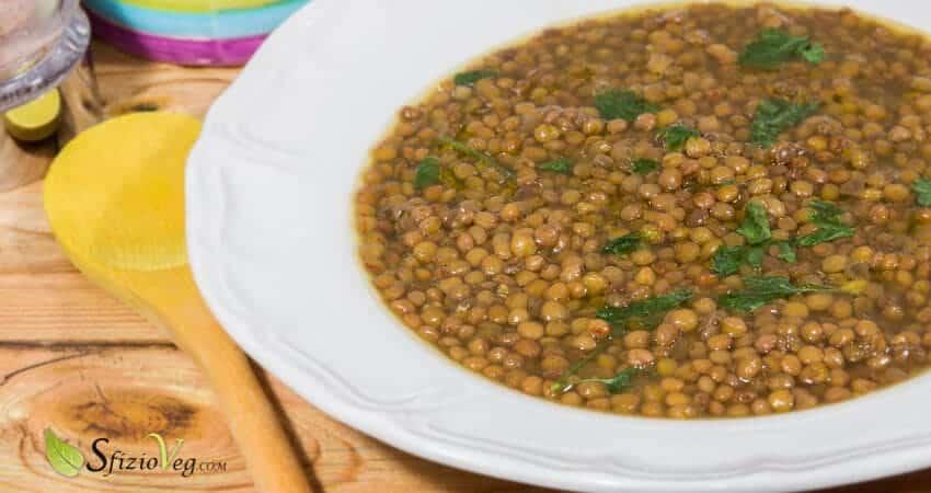 Zuppa di lenticchie allo zafferano