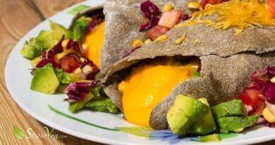 Burrito messicani con cheddar vegan