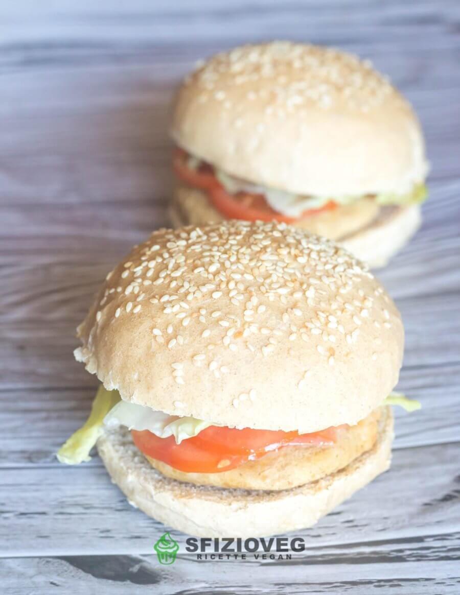 Panini per hamburger senza latte